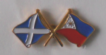 Scotland and Philippines Friendship Flag Pin Badge